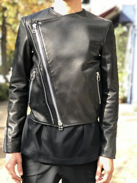 【banal chic bizarre】LEATHER RIDERS JACKET