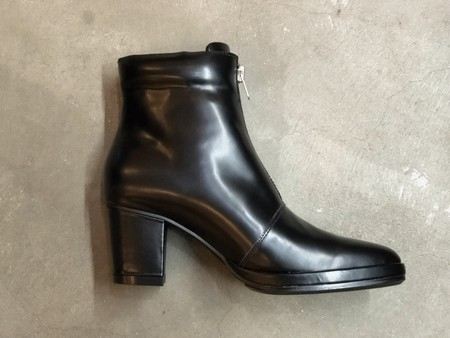 【banal chic bizarre】ZIP LEATHER HEEL BOOTS