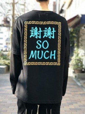 【banal chic bizarre】 謝謝 LONG SLEEVE T‐SHIRT