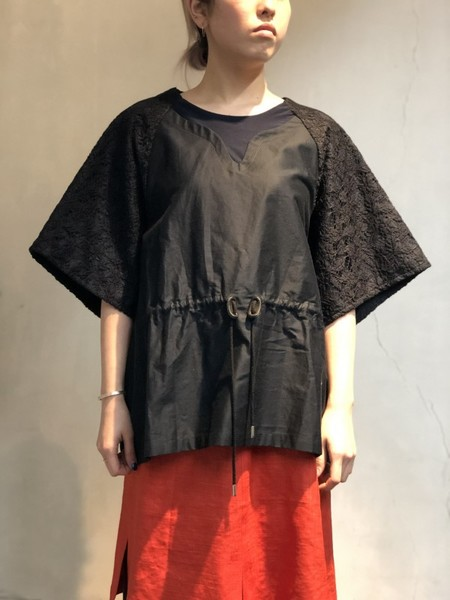【NON TOKYO】LACE SLEEVE PULLOVER