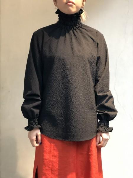 【NON TOKYO】GATHER HI-NECK SHIRT