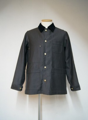 Color stitch coverall jacket