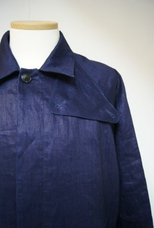 Indigo Herringbone Over Coat