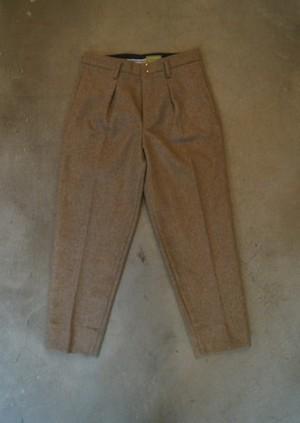 Top melton one-tuck taperd  Pants