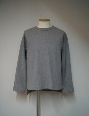 Waffle Summer Knit Long T-shirt【GRAY】