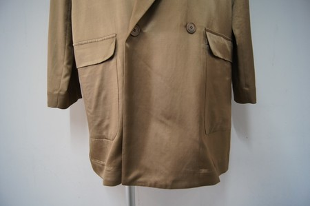 Rayon Double-breasted Jacket