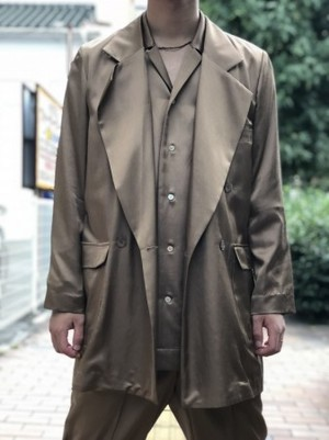 【Décor du tissu】Rayon Double-breasted Jacket
