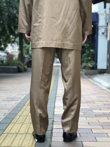 【Décor du tissu】Rayon Tapered Easy Pants