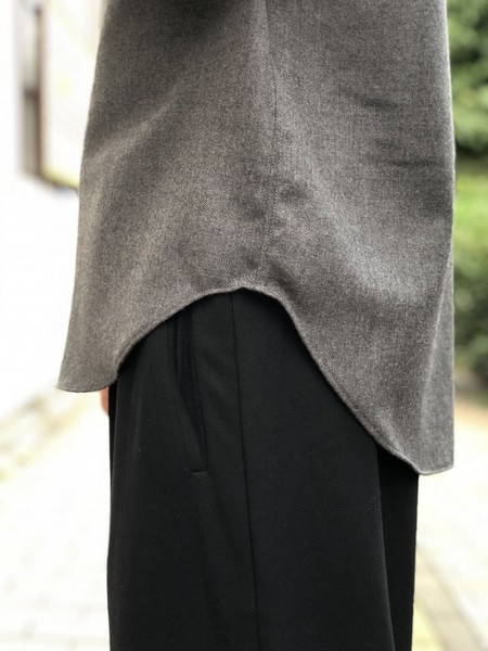 【Décor du tissu】WOOL PULLOVER SHIRT