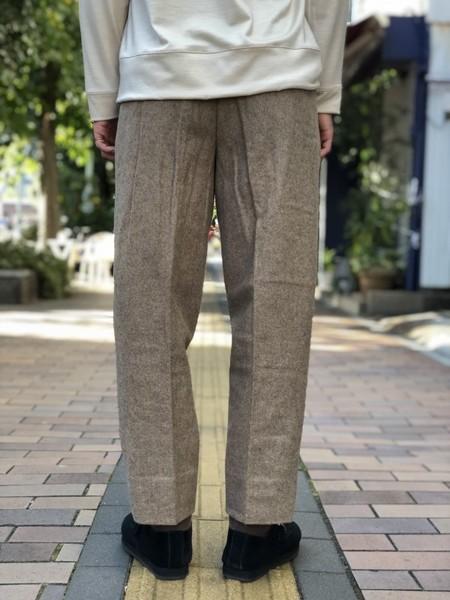 【Décor du tissu】Top melton one-tuck taperd pant