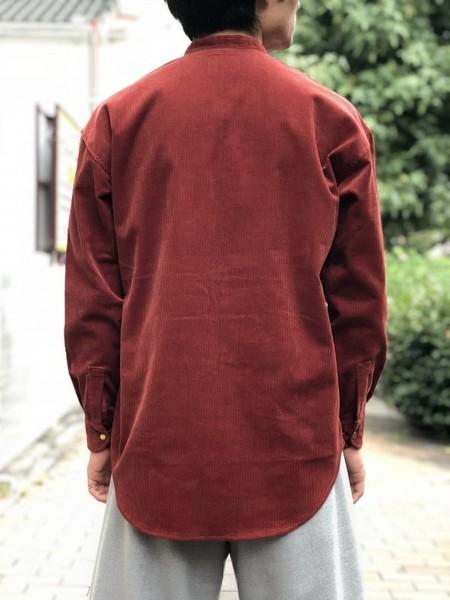 【Décor du tissu】Wide-wale corduroy pullover shirt