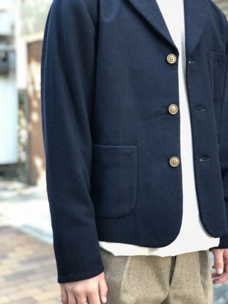 【Décor du tissu】WOOL TAILORED JACKET