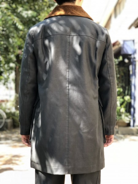 【Décor du tissu】German code cross boa car coat