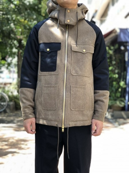 【Décor du tissu】Top melton boa Cruiser Jacket