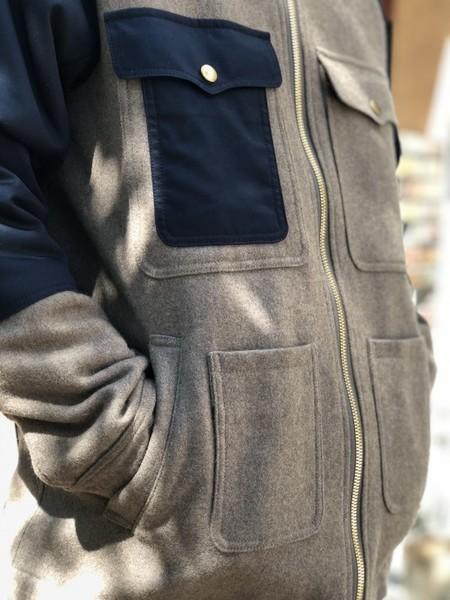 【Décor du tissu】Top melton boa Cruiser Jacket