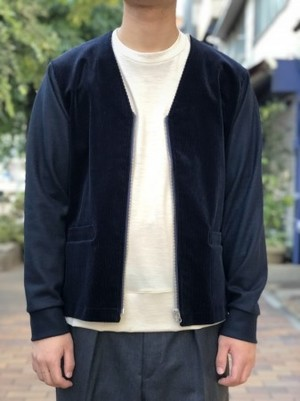 【UMBER】Wool zip cardigan