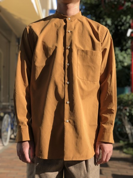 【UMBER】Stand-collar shirt